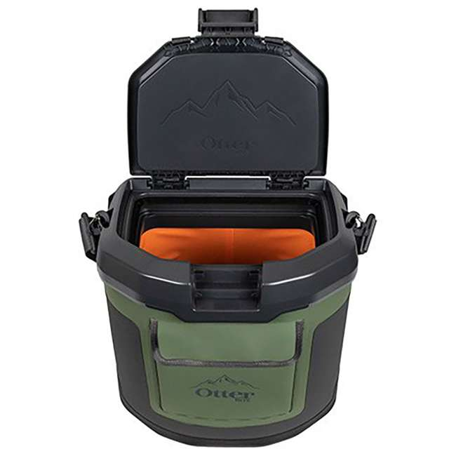 77-60673 OtterBox Trooper IP66 Leakproof Seal Portable 12 Quart Insulated Cooler, Green 1