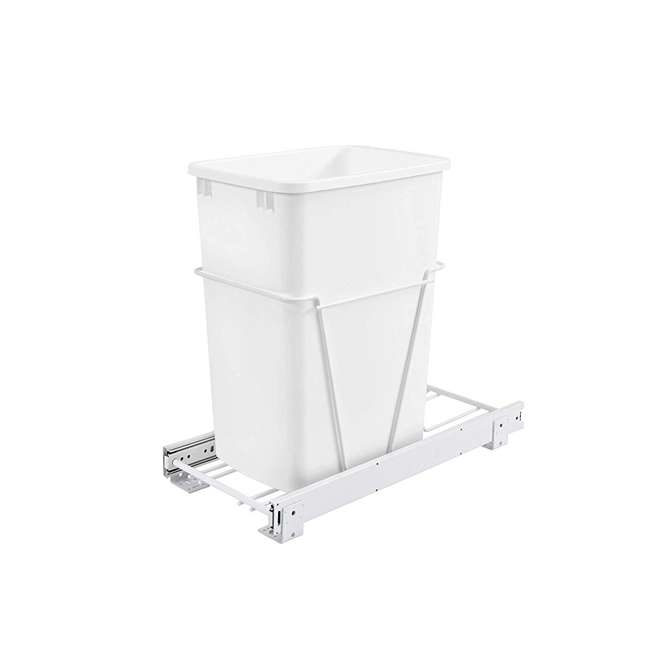 RV-12PB Rev-A-Shelf RV-12PB S 35 Quart Pull Out Waste Container with Basket, White