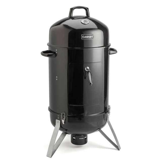 COS-118 Cuisinart COS-118 Vertical 18 Inch Charcoal Smoker Grill w/ Dual Vents, Black