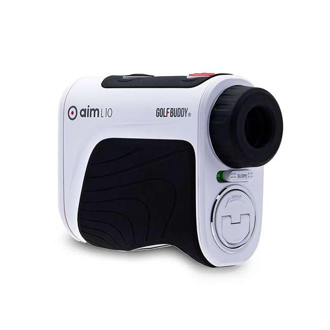AIM-L10 + GB-BATTPACK-SILVER-2 GolfBuddy Aim L10 Golf Distance Laser Rangefinder + USB Charging Power Pack 1