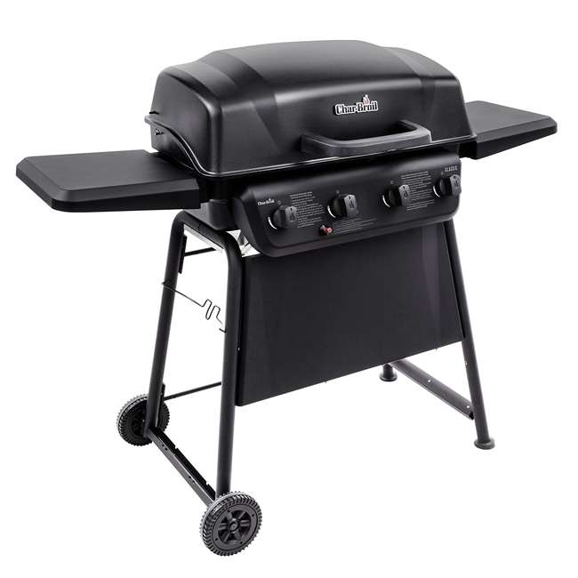 463874717-U-D Char-Broil Classic 4 Burner Backyard Barbecue Cooking Propane Gas Grill(Damaged) 1