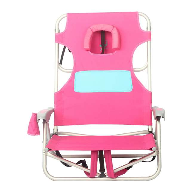 LCCOYB-2000P Ostrich Outdoor Beach Ladies Comfort and On-Your-Back Backpack Beach Chair, Pink 2