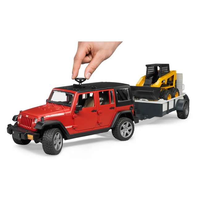 02925-BR Bruder Toys Jeep Wrangler Unlimited Rubicon with Cat Loader 4