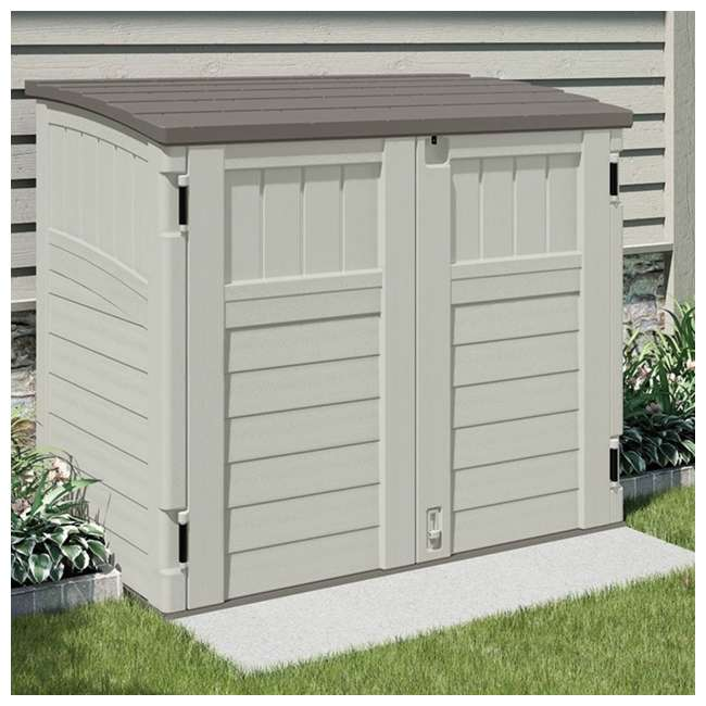 3 x BMS2500 Suncast Horizontal Storage Shed Stow Away, Ivory (3 Pack) 2