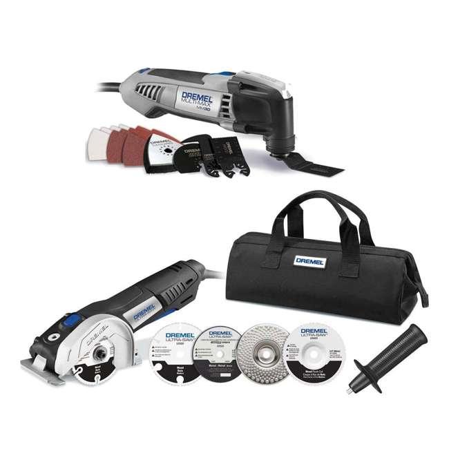 MM30-DR-RT-RB + US40-DR-RT-RB Dremel Oscillating Tool & Circular Saw Kit (Certified Refurbished)