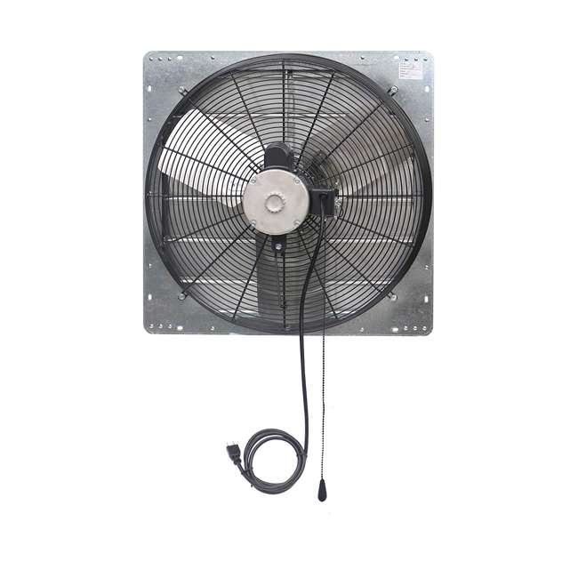 ILG8SF24V-T iLiving ILG8SF24V-T 2 Speed 24 Inch Exhaust Attic Garage Grow Fan w/ Thermostat 2