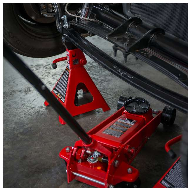 TOR-T46002A-U-C Torin Big Red 6 Ton Capacity Double Locking Steel Jack Stands, Pair (For Parts) 5