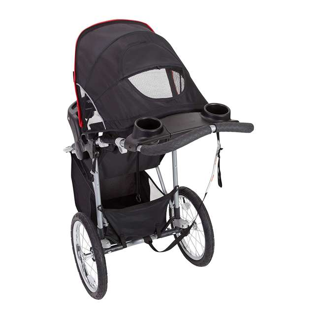 JG75B47A Baby Trend Cityscape Infant Safe Lightweight Sporty Jogger Stroller, Jolt Red 6