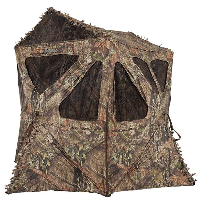 AMEBF3015 Ameristep Distorter Kick Out 3 Person Ground Hunting Concealment Blind, Mossy Oak