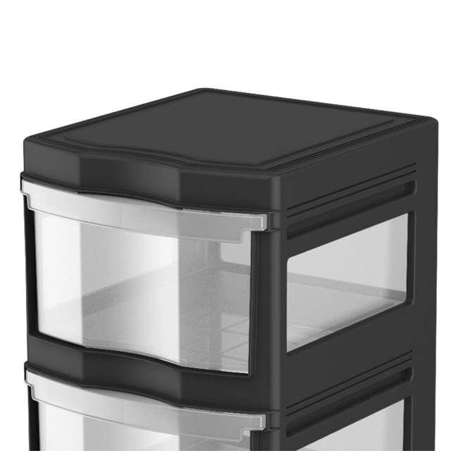 3 x DRW3-M-BL Life Story Classic 3-Shelf Storage Organizer Drawers, Black (3 Pack) 2