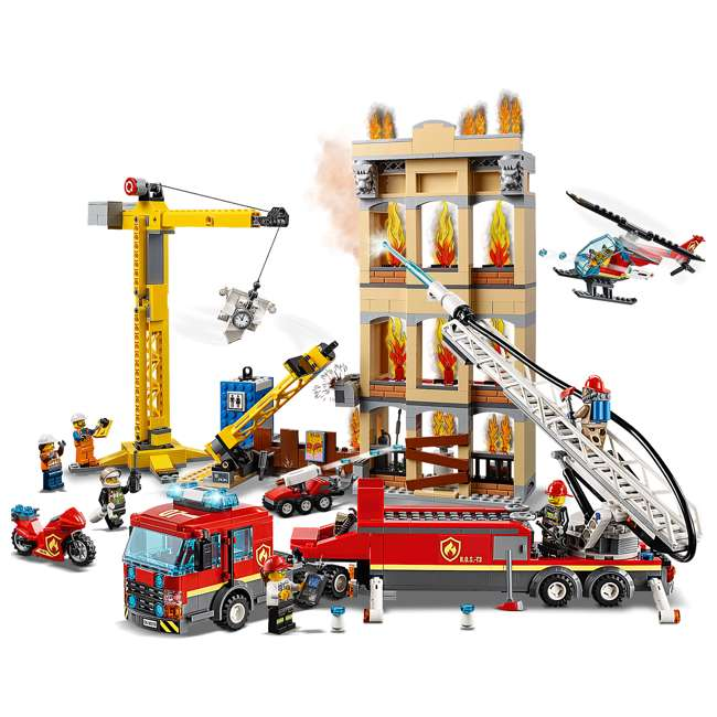 6251474 LEGO City 60216 Downtown Fire Brigade Block Building Kit with 7 Minifigures 3