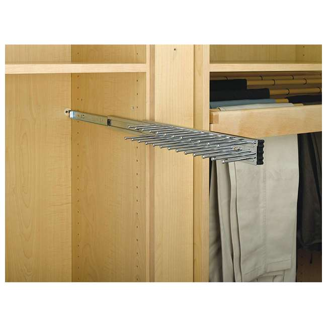 TRC-14CR Rev-A-Shelf TRC-14CR 14 Inch Side Mount Extending Tie Organization Rack, Chrome 3