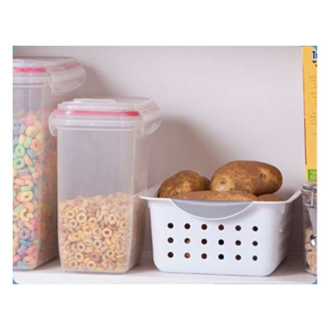 72 x 16228012-U-A New Sterilite 16228012 Small Ultra Plastic Storage Bin Organizer Basket -White (72 Pack) 6