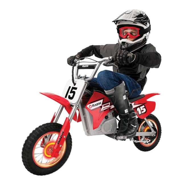 15128060 Razor MX400 Dirt Rocket 24V Toy Motocross Motorcycle Dirt Bike, Red (2 Pack) 2