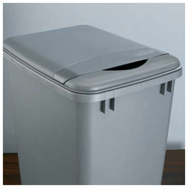 RV-35-LID-17-1 Rev A Shelf 35 Quart Polymer Trash Container Replacement Lid Accessory, Gray 2