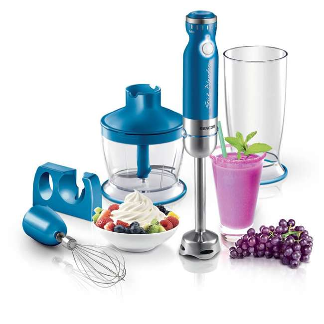 SHB4361BL-NAA1 Sencor SHB4361BL-NAA1 350 W Variable Speed Stainless Steel Hand Blender Set, Blue