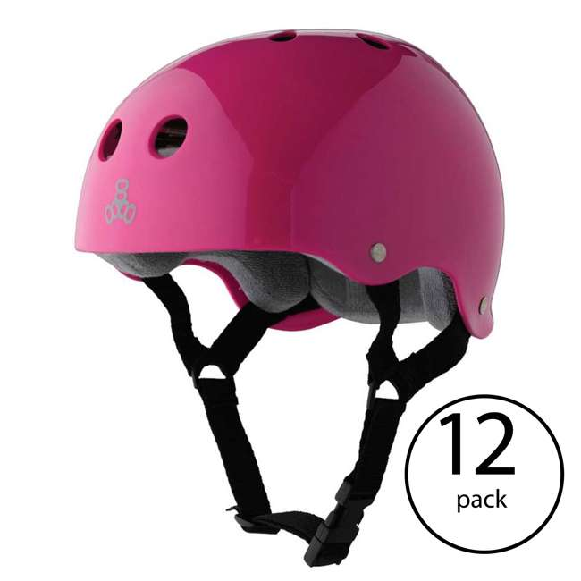 12 x T8-1285 Triple 8 Hardened Helmet with Sweatsaver Liner, X-Small (12 Pack)