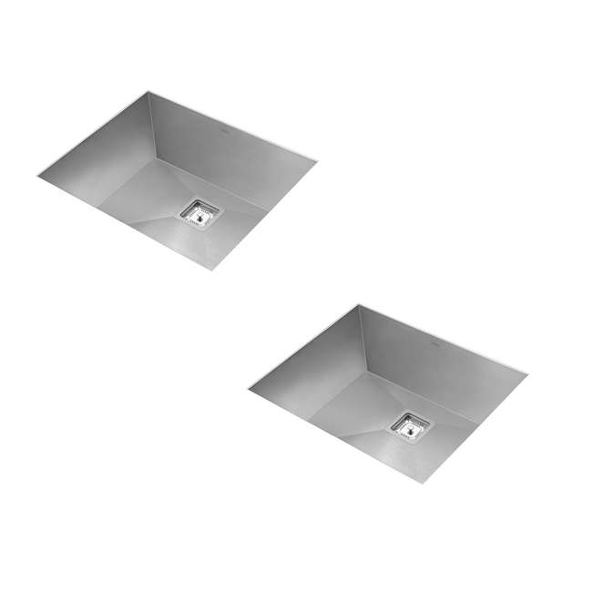 KHU23 Kraus Pax 22.5-Inch Rectangular Undermount Kitchen Sink (2 Pack)