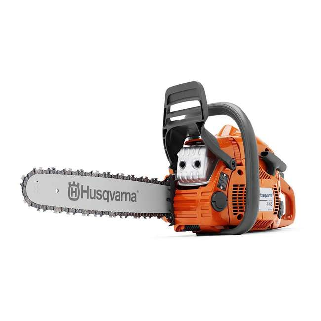 HV-CS-967651004 + HV-TOY-522771104 Husqvarna 445E 18 Inch Bar Gas Chainsaw and 440 Toy Childrens Chainsaw, Orange 1