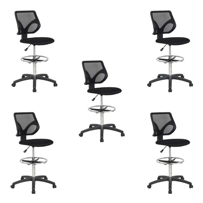 office drafting chair. Cool Living Adjustable Office Drafting Chair, Black (5 Pack) : 5 X DRAFTING- CHAIR-BLACK Office Drafting Chair T
