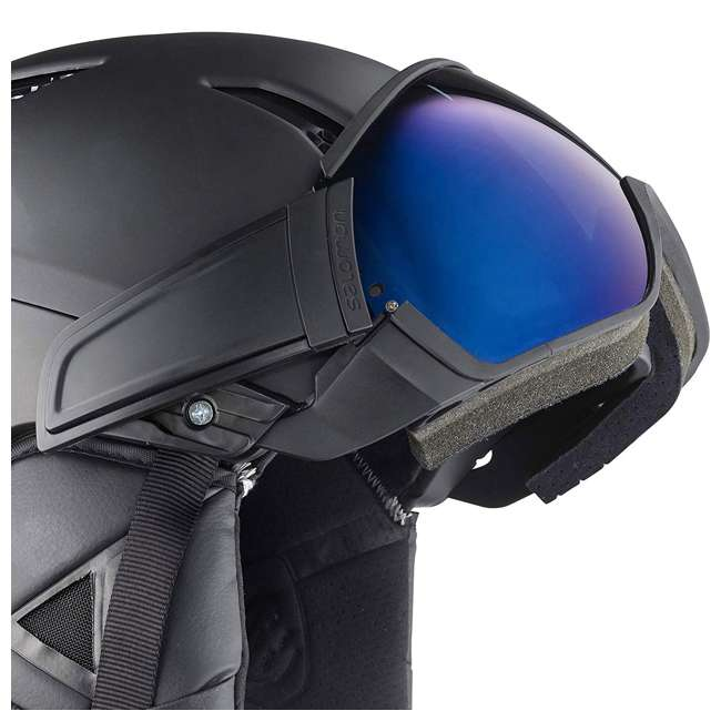 L40534500-L Salomon Driver S Snow Sports Black Visor Helmet, Large (2 Pack) 3
