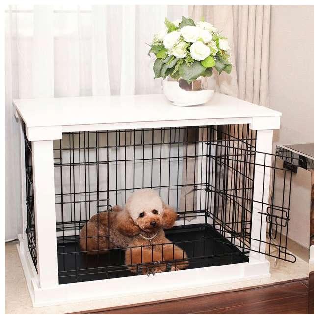 PTH0251720100 Zoovilla Decorative Dog Cat Cage Crate, White 1
