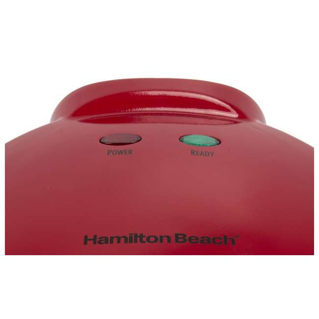 25409 + TOASTER150 Hamilton Beach Quesadilla Maker, Red & Best Toaster Oven 150 Recipes CookBook 4
