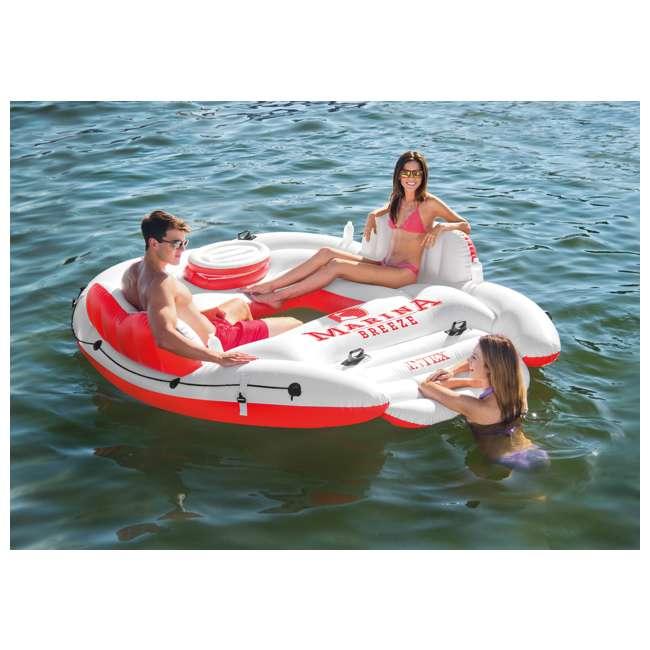 6 x 56296CA-U-A Intex Marina Breeze Island Lake Raft with Built-In Cooler (Open Box) (6 Pack) 1