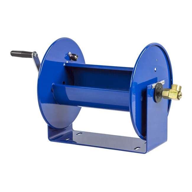 112-3-150 Coxreels 100 Series Compact Hand Crank Water and Air Hose Reel, Blue