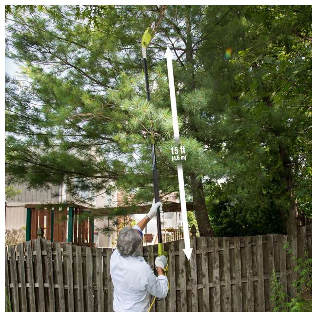 SWJ802E Sun Joe 8-Inch 6.5-Amp Telescoping Multi-Angle Pole Chain Saw (2 Pack) 1