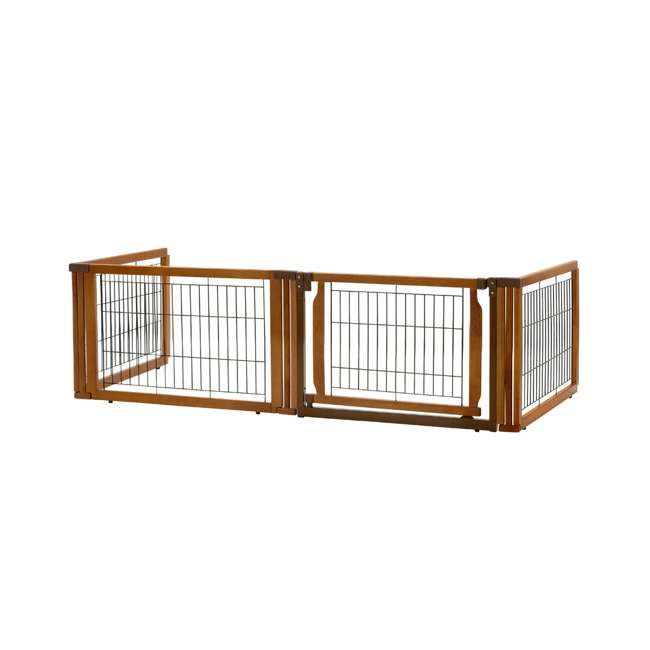 94196 Richell Convertible Elite 4 Panel 3 in 1 Pet Kennel and Gate, Brown