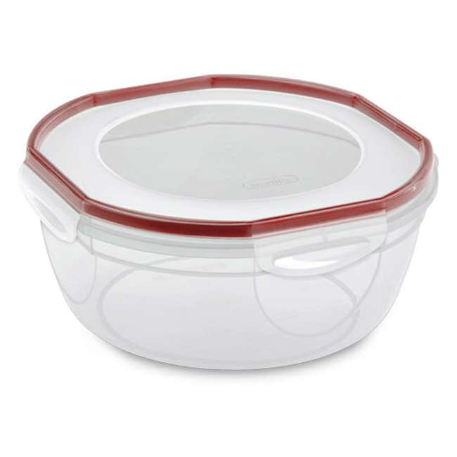 4 x 3948604 Sterilite Ultra Seal 4.7 Qt Plastic Food Storage Bowl Container w/ Lid (4 Pack) 1