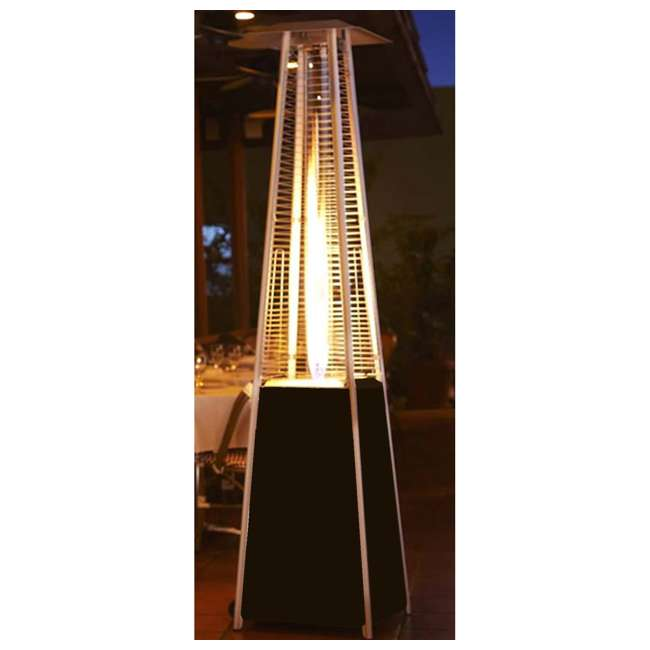 HLDS01-GTHG-U-A AZ Patio Tall Outdoor Triangle Glass Tube Liquid Propane Heater (Open Box) 3