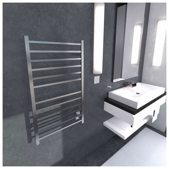 RSWHL-B Amba Radiant Large Hardwired Square Towel Warmer, Brushed 5