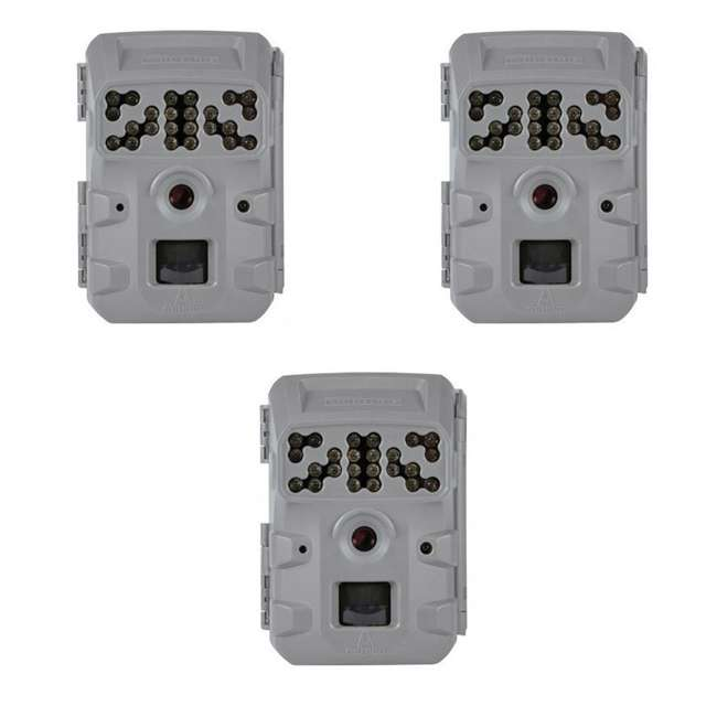 3 x MCG-13337 Moultrie Invisible Flash Phone Compatible Game Trail Hunting Camera (3 Pack)