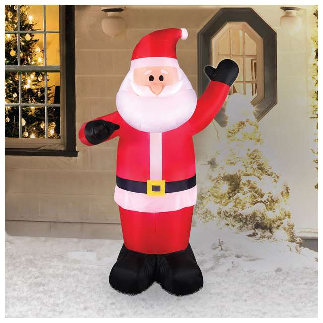 BAN-94447 Airflowz 5 Foot Life Size Inflatable Santa Claus Decor with Built In LED Lights 1