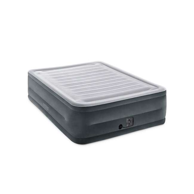 3 x 64417EP-U-A Intex Plush High Rise Dura Beam Airbed w/ Built-In Pump, Queen(Open Box)(3 Pack)