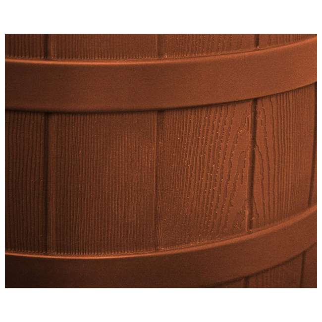 RW50-DIV-TC Good Ideas Rain Wizard Collection Barrel 50-Gallon w/ Diverter Kit, Terra Cotta 4