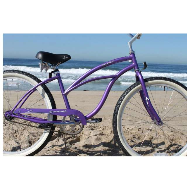 "15005 Firmstrong Urban Lady Women's 24"" Beach Cruiser Bike, Purple 1"