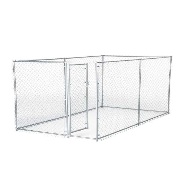 CL-41028EZ Lucky Dog 10 x 5 x 4 Foot Chain Link Dog Kennel Enclosure (2 Pack) 1