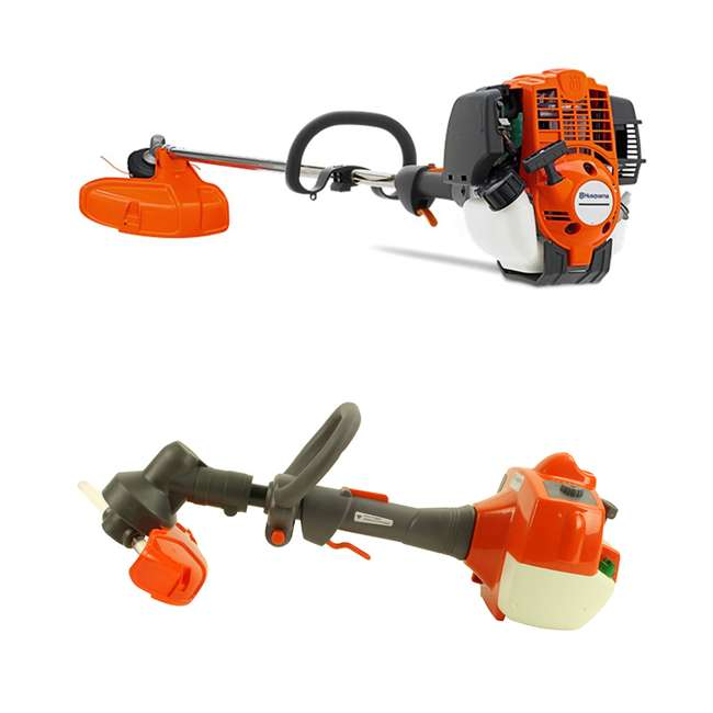 HV-TR-967055801 + HV-TOY-585729102 Husqvarna 324L Gas Weed Trimmer and Child Toy Weed Trimmer