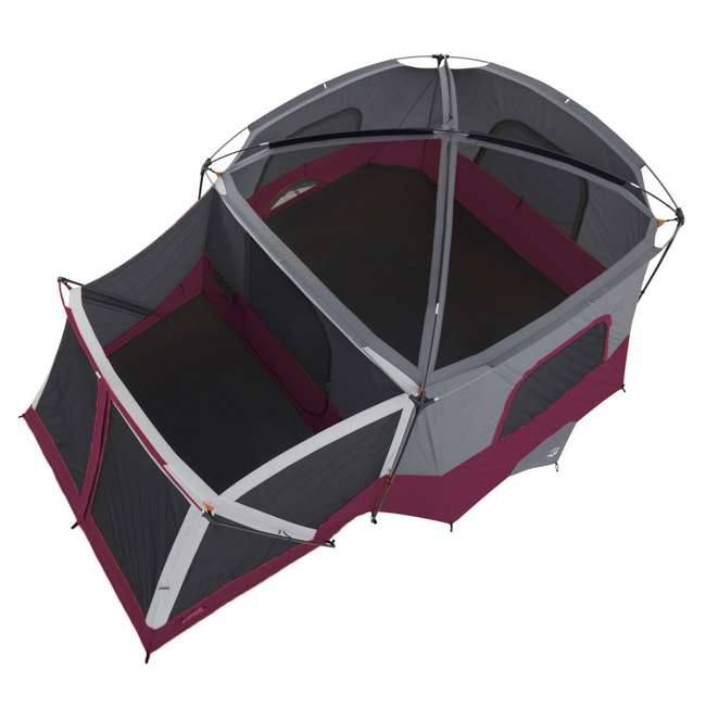 CORE-40072-U-A CORE 40072 11-Person Family Camping Cabin Tent with Screen Room, Red (Open Box) 4