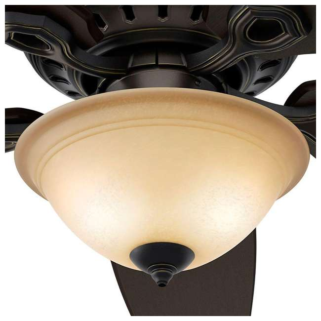 53033 Hunter Fairhaven 52 Inch Indoor Basque Black Ceiling Fan with Light Kit & Remote 3