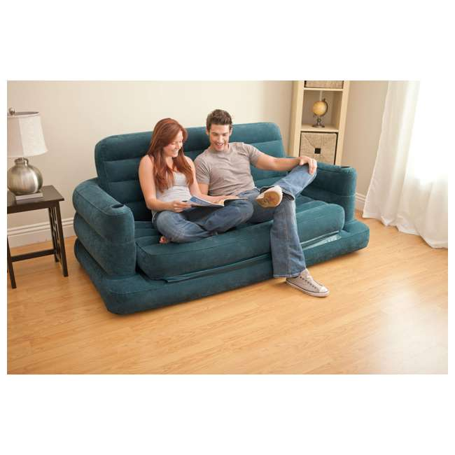 68566EP-U-B INTEX Inflatable Pull-Out Sofa & Queen Bed Mattress Sleeper (Used) (2 Pack) 8