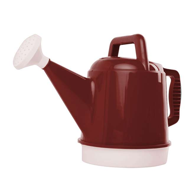 DWC2-12 Bloem 2.5 Gallon Union Red High Impact Removable Nozzle Watering Can (2 Pack) 1