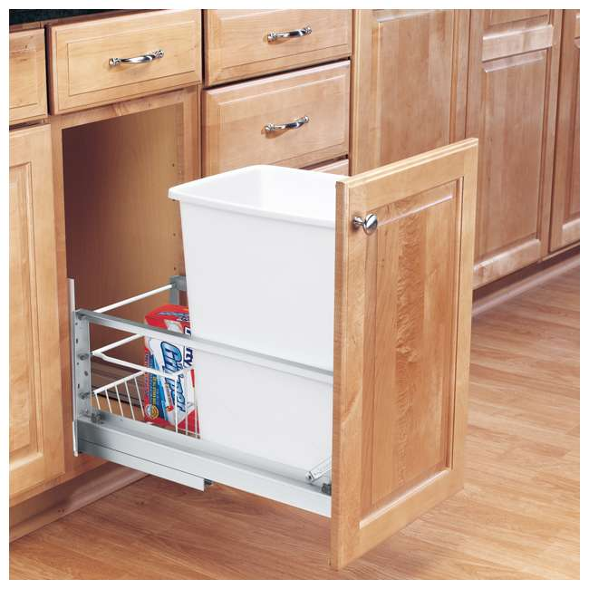 5349-15DM-1 Rev-A-Shelf 5349-15DM-1 35 Quart Pull Out Cabinet Waste Container Trash Can 2