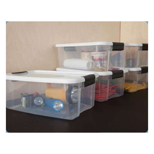 19849806-U-A Sterilite 18 Quart Ultra Latch Storage Box w/White Lid (Open Box) 1