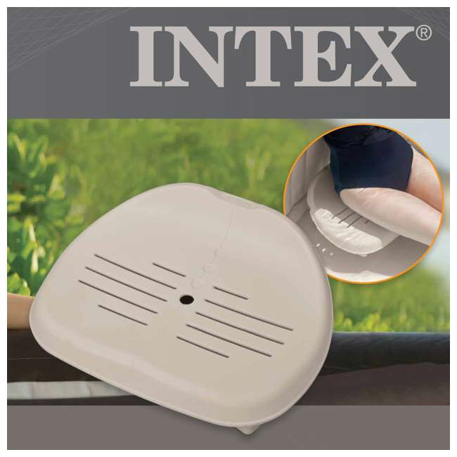5 x 28502E Intex  PureSpa Portable Hot Tub Seat Removable Add-On 28502E (Open Box) (5 Pack) 4