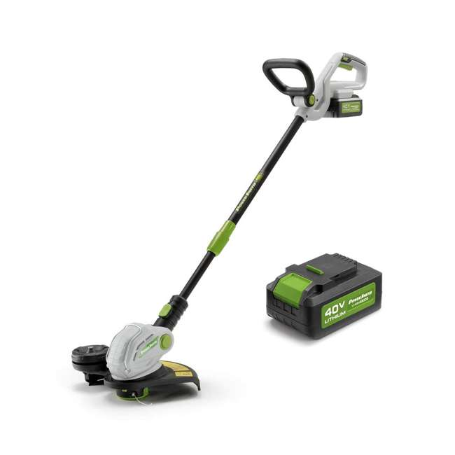 PGT140 + PLB14025 PowerSmith 40V Max Cordless Electric String Trimmer and Edger with Extra Battery