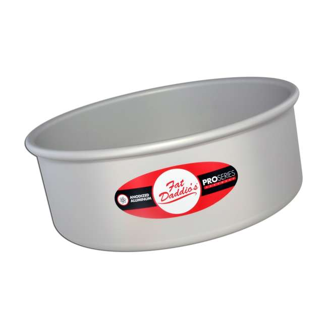 PRD-83 + PRD-63 + PRD-103 Fat Daddio's Anodized Aluminum Round Cake Pan with Solid Bottom (3 Sizes) 1